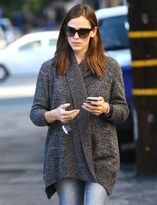 Jennifer Garner le 8 janvier 2013 à Brentwood