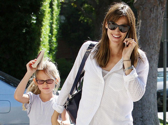 Jennifer Garner et sa fille Violet à Beverly Hills le 24 août 2013