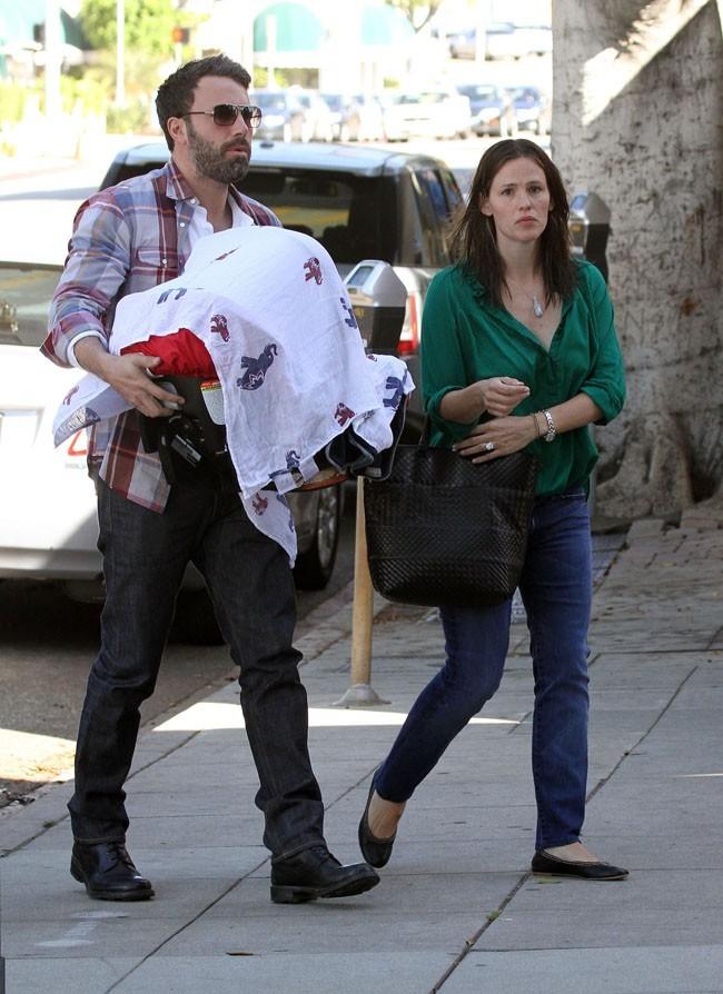 Jennifer Garner et Ben Affleck le 28 juin 2012 à Pacific Palisades