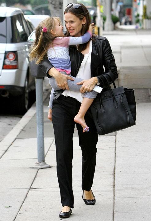 Jennifer Garner en famille à Los Angeles le 3 décembre 2012