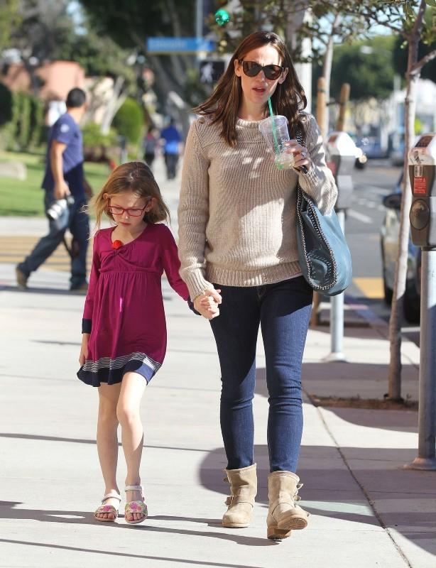 Jennifer Garner et sa fille Violet, Santa Monica, 21 janvier 2013.