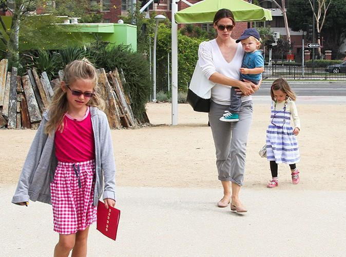 Jennifer Garner et ses enfants à Los Angeles le 3 août 2013