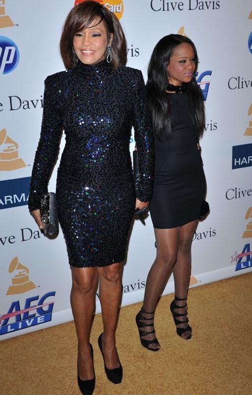 Whitney avec sa fille Bobbi Christina !