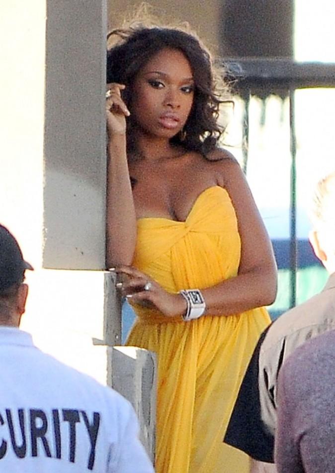 Jennifer Hudson en shooting à Los Angeles, le 7 décembre 2011.
