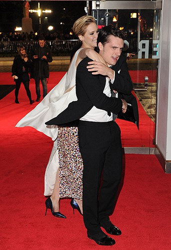 Jennifer Lawrence et Josh Hutcherson à Londres le 11 novembre 2013