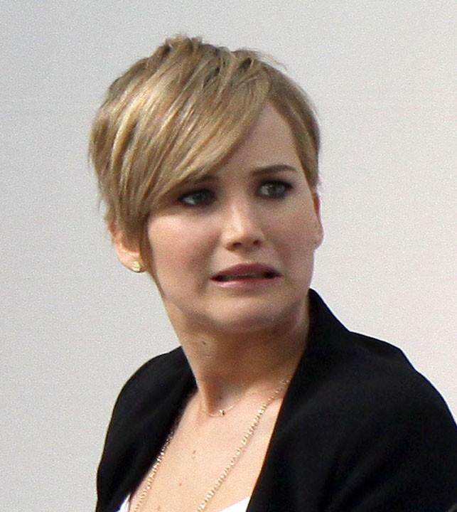 Jennifer Lawrence au siège de Yahoo, à Sunnyvale, le 6 novembre 2013