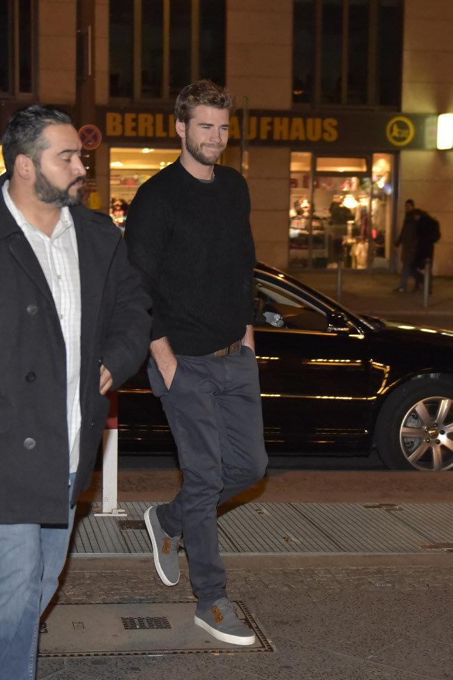 Liam Hemsworth à Berlin le 1er novembre 2015