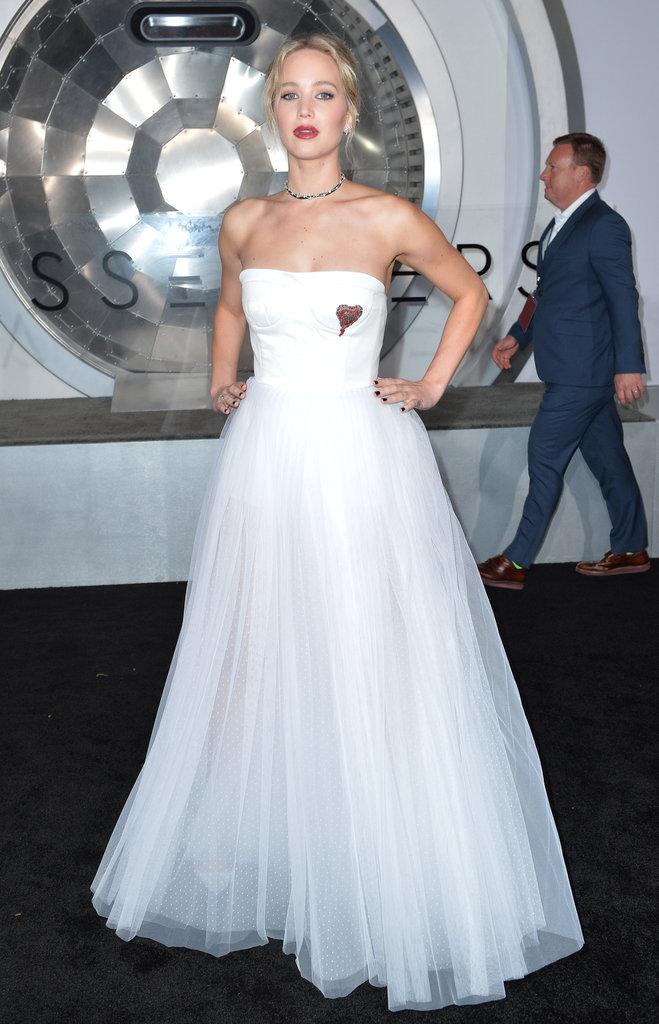 Jennifer Lawrence en robe blanche, c'est époustouflant !