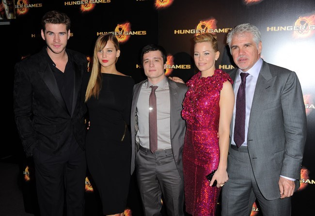 Toute l'équipe d'Hunger Games à Paris !