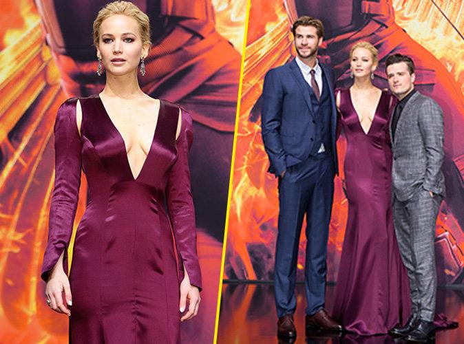 Jennifer Lawrence, Liam Hemsworth et Josh Hutcherson le 4 novembre 2015