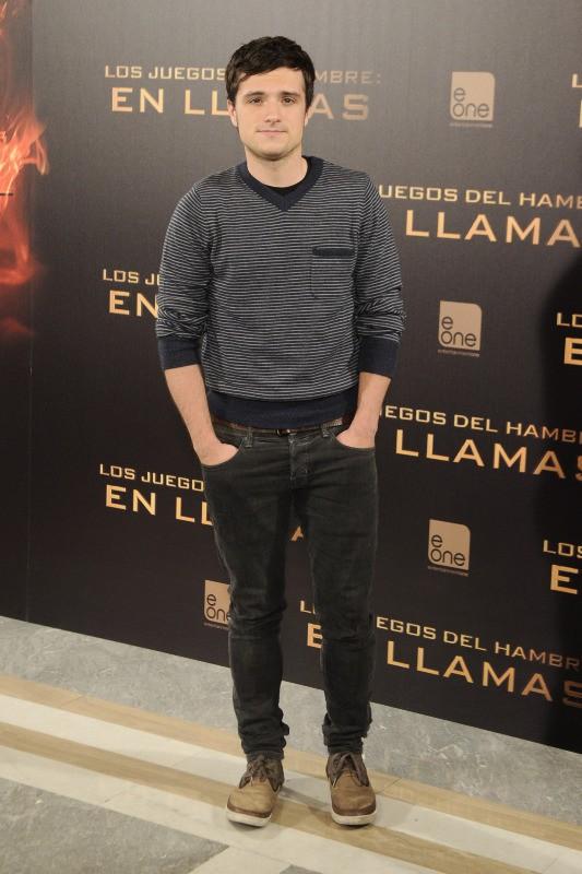 """Josh Hutcherson en promo à Madrid pour """"Hunger Games : L'Embrasement"""", le 13 novembre 2013."""