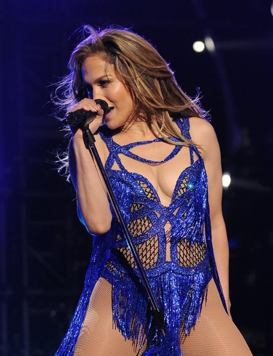 Jennifer Lopez au Nokia Theatre de Los Angeles le 21 mai 2014 pour la finale d'American Idol