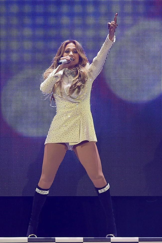 Jennifer Lopez à Vancouver le 22 octobre 2014