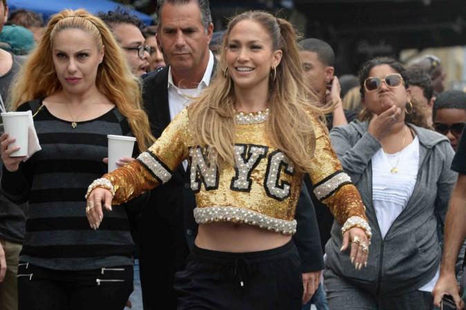 Jennifer Lopez : elle tourne un nouveau clip � New York avec Fat Joe et French Montana !