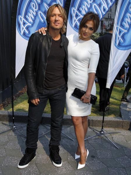 Jennifer Lopez et Keith Urban lors des auditions d'American Idol à Atlanta, le 30 octobre 2013.