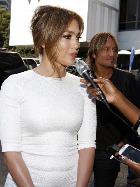 Jennifer Lopez lors des auditions d'American Idol à Atlanta, le 30 octobre 2013.