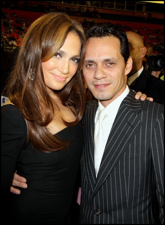Jennifer Lopez et Marc Anthony au Miami Dolphins Stadium, le 21 septembre 2009.