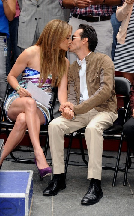 "Jennifer Lopez et Marc Anthony en mode ""love to love"" à New York, le 10 juin 2010."