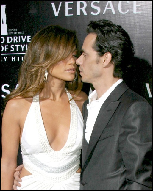 Jennifer Lopez et Marc Anthony lors de la soirée Rodeo Walk of Style Award IHO Gianni & Donatella Versace à Beverly Hills, le 8 février 2007.