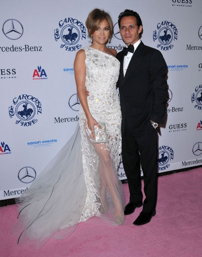Jennifer Lopez et Marc Anthony lors du Carousel Of Hope Gala à Beverly Hills, le 23 octobre 2010.