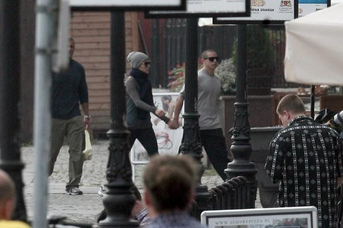Jennifer Lopez et Caspert Smart en Pologne le 27 septembre 2012