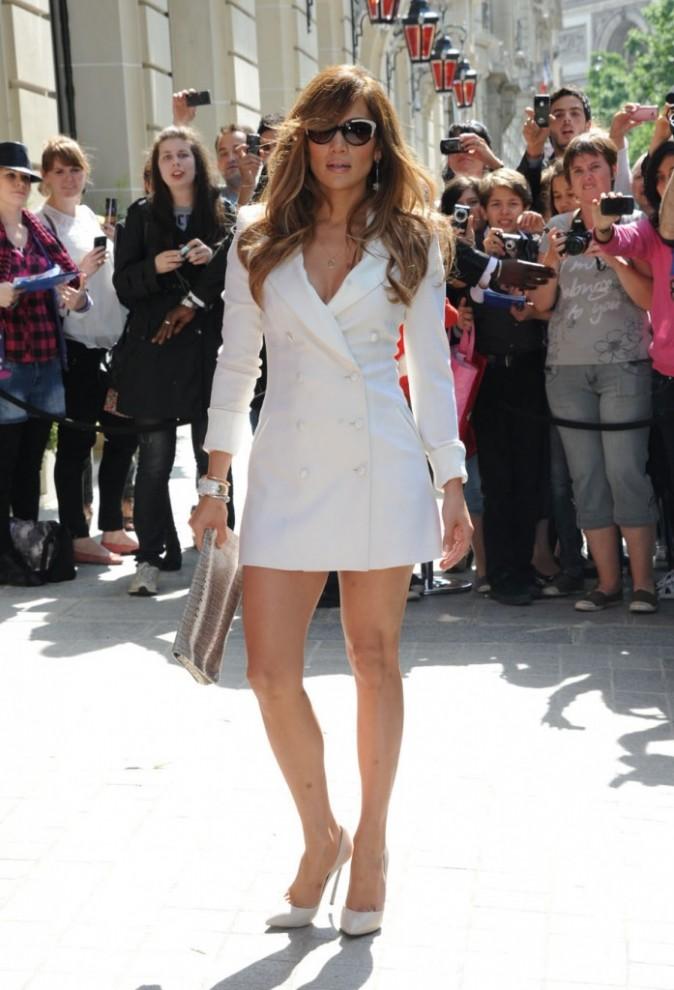 Jennifer Lopez en promo à Paris, le 15 juin 2011.