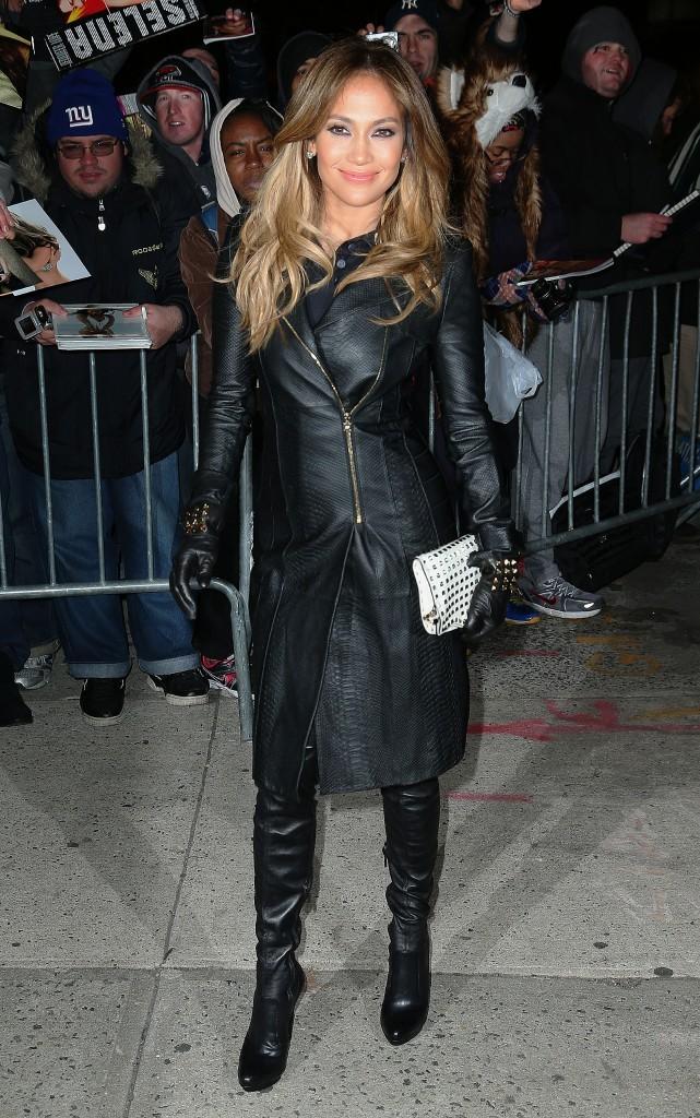 Jennifer Lopez à New York, le 22 janvier 2013.