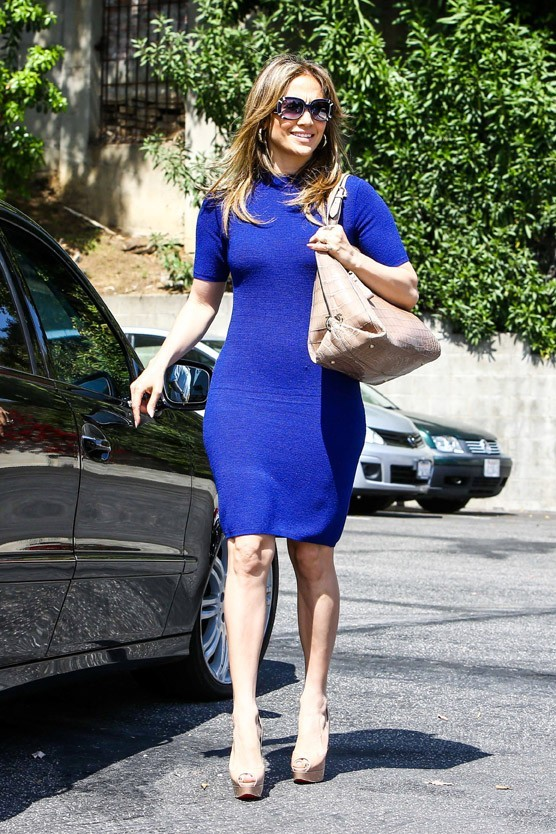 Jennifer Lopez à West Hollywood le 12 avril 2013