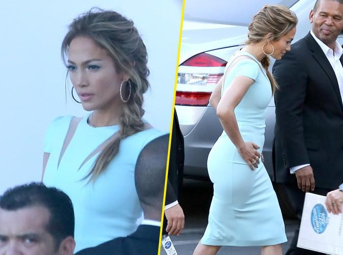 Jennifer Lopez : savoureusement moulée et joliment coiffée pour un nouveau numéro d'American Idol !