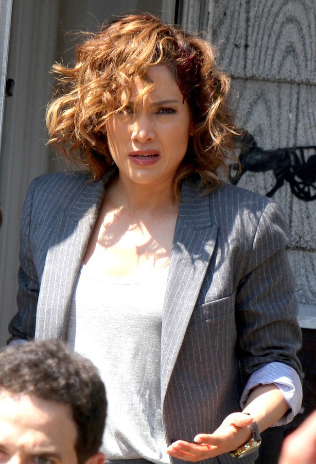 "Jennifer Lopez sur le tournage de ""Shades of Blue"" à New-York le 4 août 2015"