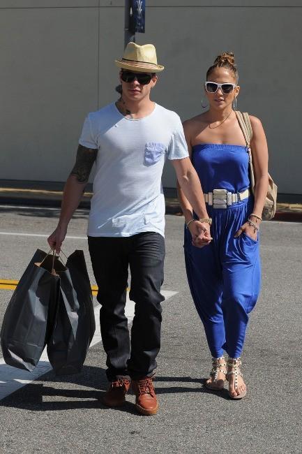 Casper Smart et Jennifer Lopez à Los Angeles, le 20 mai 2012.
