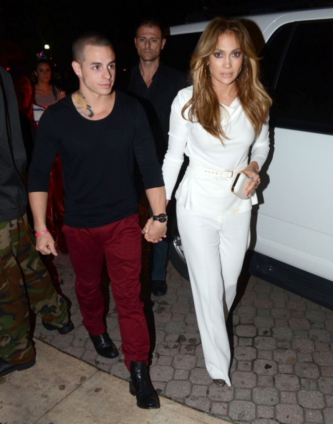 Casper Smart et Jennifer Lopez à San Juan, le 22 décembre 2012.