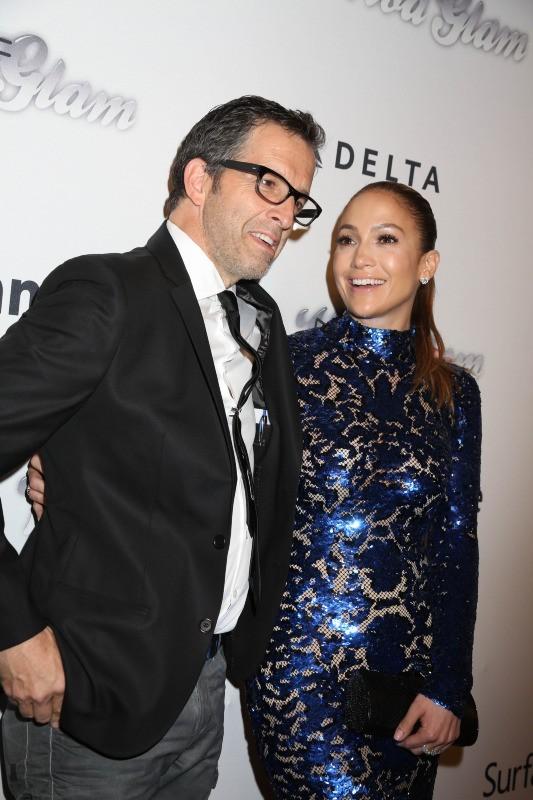 Jennifer Lopez et Kenneth Cole lors de l'AmfAR Inspiration Gala à New York, le 13 juin 2013.