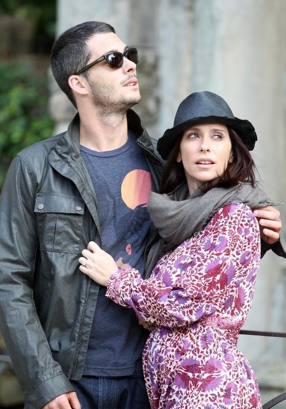 Jennifer Love Hewitt et son fiancé à Florence, fin mai 2013