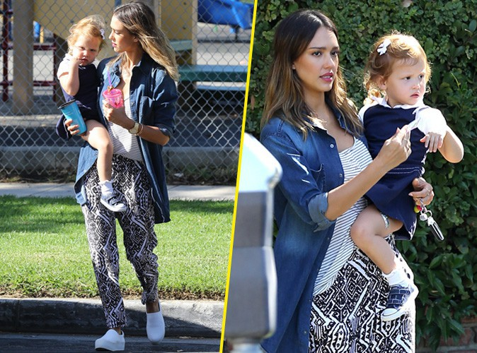 Jessica Alba et sa fille Haven à Los Angeles le 18 septembre 2014