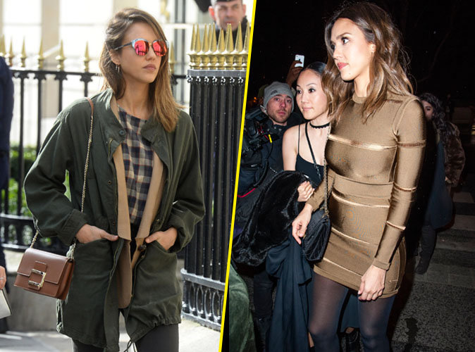 Jessica Alba : d�contract�e de jour, elle sort le grand jeu la nuit � Paris !