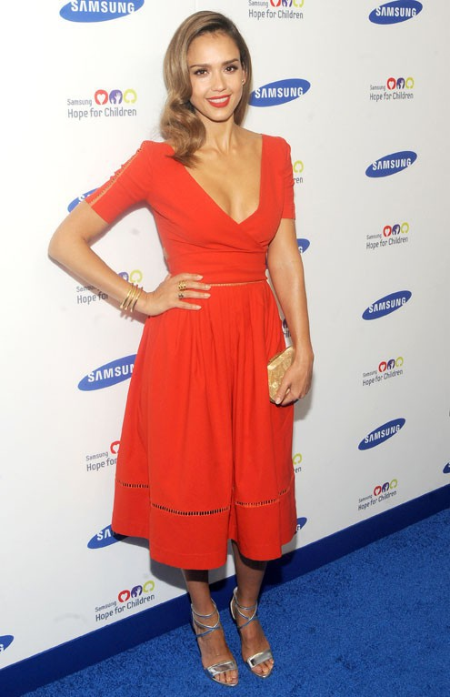 Jessica Alba au Samsung Hope For Children Gala organisé à New-York le 10 juin 2014