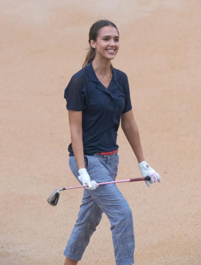 Photos : Jessica Alba et Chris Evans réunis pour une partie de golf !
