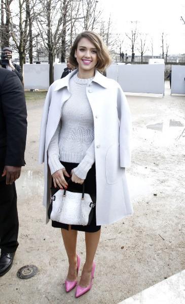 Jessica Alba au défilé Nina Ricci, le 27 février 2014.