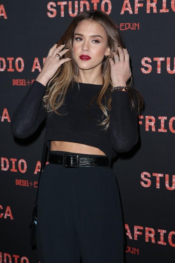 Jessica Alba à la soire Diesel organisée à la Gaiété lyrique à Paris le 3 mars 2013