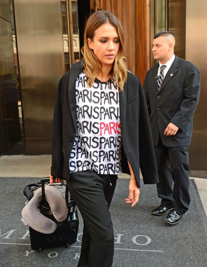 Jessica Alba à New York pour la promotion de son nouveau film Sin City : A Dame To Kill For le 5 août 2014.