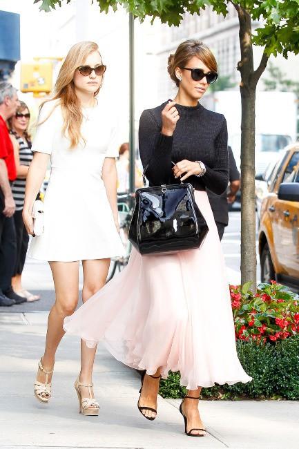 Jessica Alba et son look de ballerine, le 12 septembre 2013 à New York