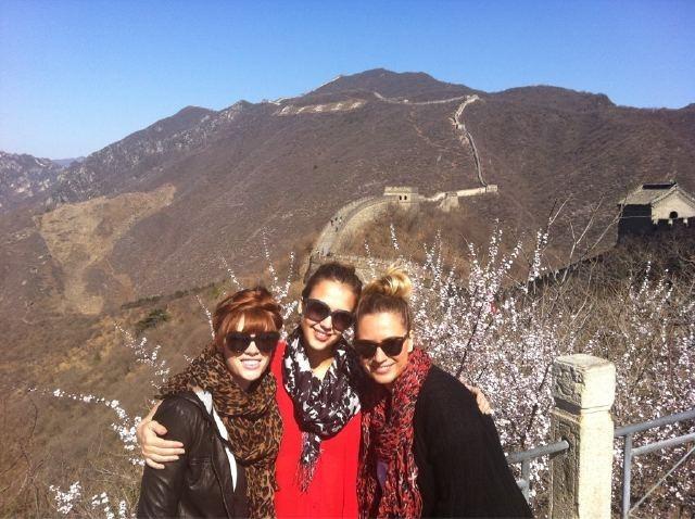 Jessica à la muraille de Chine !