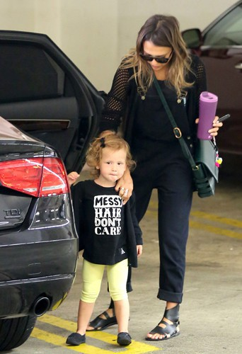Jessica Alba et sa fille Haven à Los Angeles le 20 juillet 2014