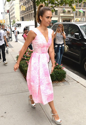 Jessica Alba à New York, le 12 août 2014