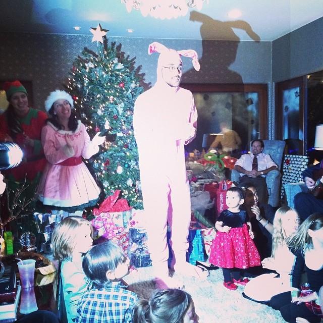 Réveillon de Noël chez Jessica Alba, le 24 décembre 2013.