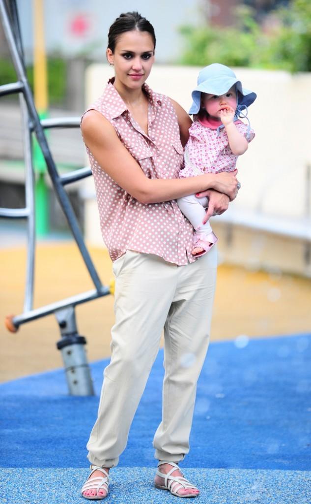 Jessica Alba et Haven Garner le 26 juillet 2012 à New York
