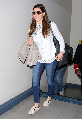 Jessica Biel à Los Angeles le 3 mars 2014