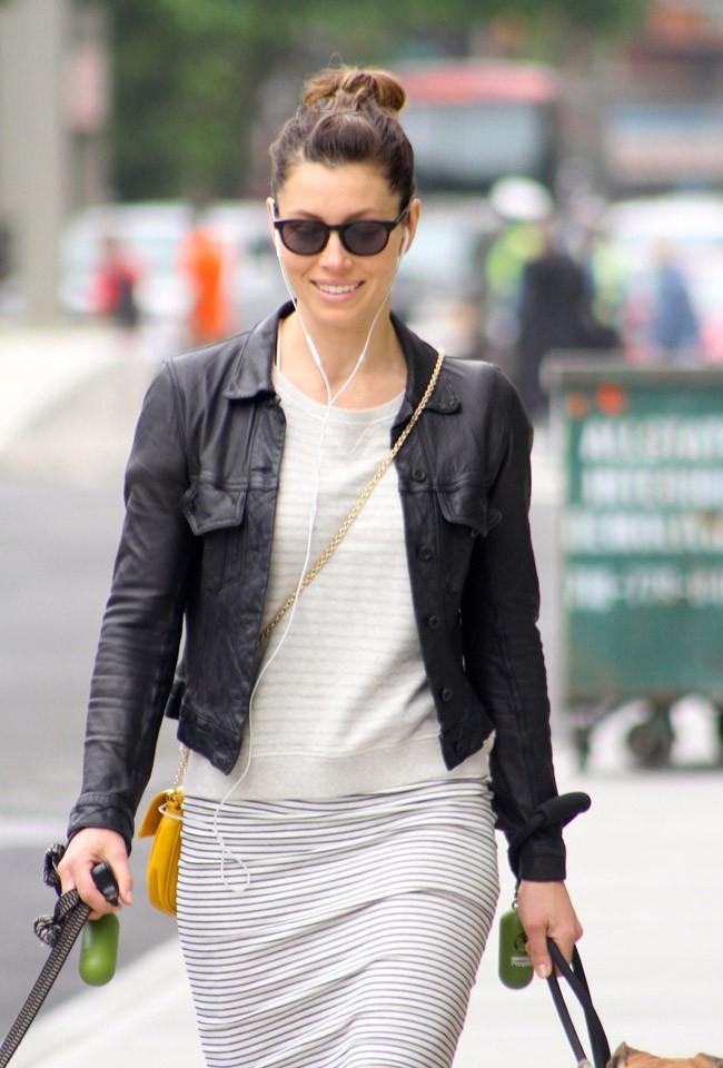 Jessica Biel à New-York le 22 mai 2013