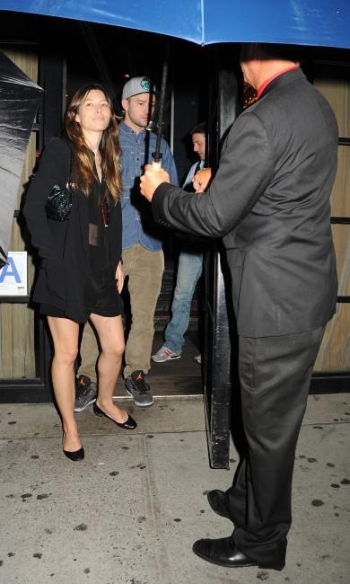 Jessica Biel et Justin Timberlake à New York, le 26 août 2013.